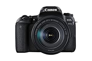 Canon EOS 77D DSLR Camera with EF-S 18 - 135 mm F3.5-5.6 IS USM Lens - Black