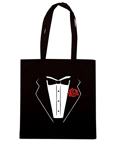 T-Shirtshock - Borsa Shopping OLDENG00416 black tuxedo, Taglia Capacita 10 litri