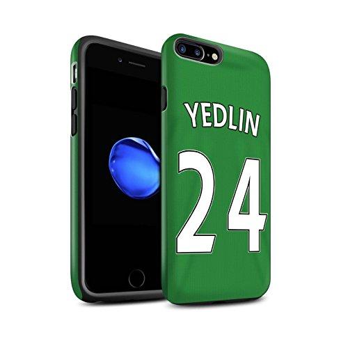 Offiziell Sunderland AFC Hülle / Matte Harten Stoßfest Case für Apple iPhone 7 Plus / Khazri Muster / SAFC Trikot Away 15/16 Kollektion Yedlin