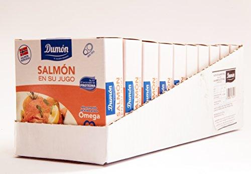 Dumón - scatola di 8 unità, salmone norvegese al naturale, 160g