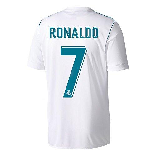 Camiseta del Real Madrid con el nº 7 de Ronaldo, temporada 2017-2018, hombre, blanco