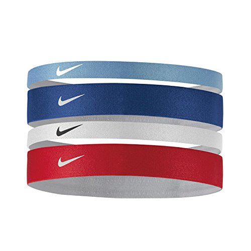 Nike Erwachsene Printed Stirnband, Chalk deep royal Blue/White, OSFM -