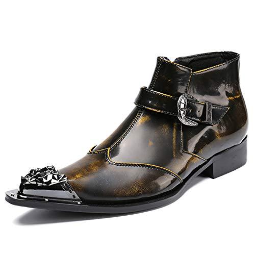 97c8c0ac Souy Hombre De Negocios Martin Boots Punta Estrecha Cuero Genuino High Top  Footwear Casual Vintage Botines