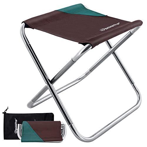 DUOUPA Tragbarer Klapphocker,Camping Hocker zusammenklappbar, leicht, für Camping, Angeln, Picknick, Reisen und Wandern(30 x 26 x 30 cm 365g)