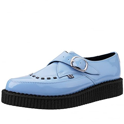 T.U.K. Shoes Women's Baby Blue Patent Buckle Pointed Creeper EU37 / UKW4 (Blaue Baby-creeper)