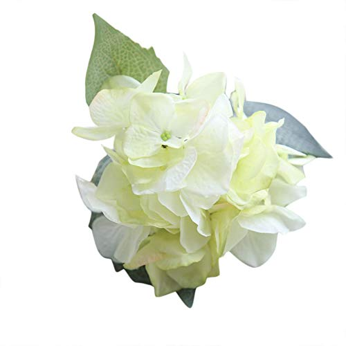 Juesi Künstliche Blumen, Seide, Hortensien, Blumenstrauß für Hochzeit, Party-Dekoration grün - Seide, Blumen-reiniger-spray