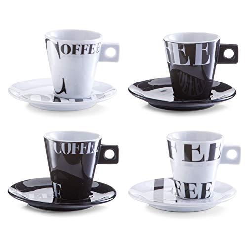Zeller 26541 Cappuccinotassen Set 8-teilig Coffee-Style