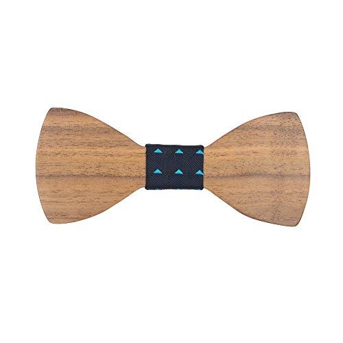 Meijunter D-D42 Cravate en bois pour hommes WT01-1 D-D49