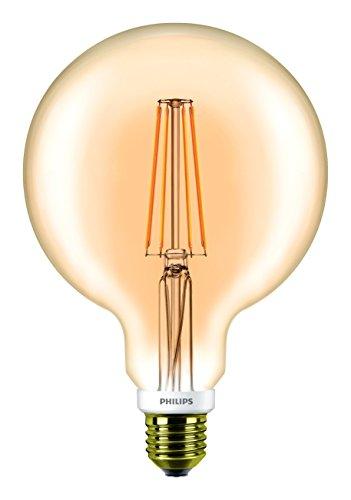 Transparent 7w Led (Phil Classic LEDbulb Filament 7W E27 820 | 2000K Globe G120 gold transparent dimmb)