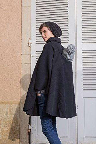 Poncho de grossesse et de portage - noir