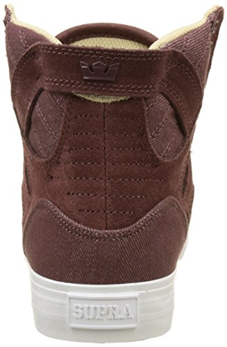 Supra Unisex-Erwachsene Skytop Classic Sneaker Rouge (Marron Mahogany-White)