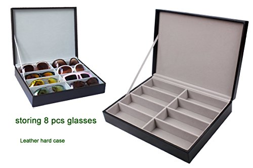Zowaysoon 8 Grids Sunglasses Storage Organizer Box PU Lether Display Case Watch Jewelry Tray Case by zowaysoon