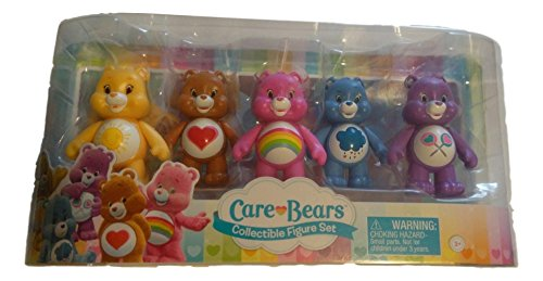 Set [Tenderheart, Share, Cheer, Funshine, and Grumpy Bear], 5-Pack, 3 Inches by Care Bears ()