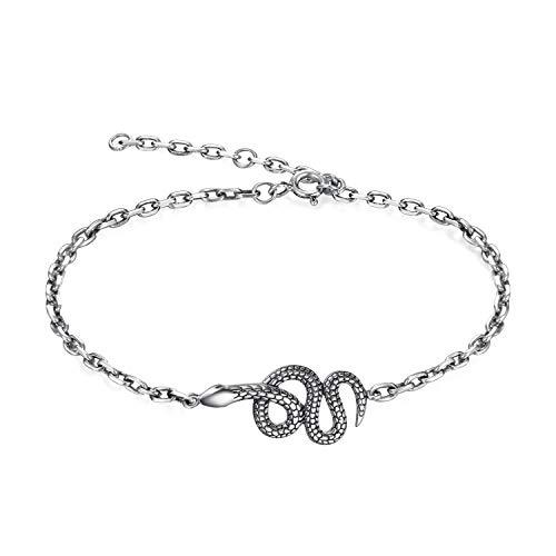 (WOFEIYL Women Es Armband Fashion 925 Silver Schlangen Style Armband)