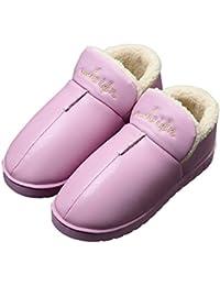 YASHANG Zapatillas De Algodón Chica Zapatos De Interior Impermeable Antideslizante Mantener Caliente Inicio