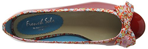 French Sole Henrietta Large Bow Patent Leather John D Liberty Print, Ballerines femme Rouge - Rouge