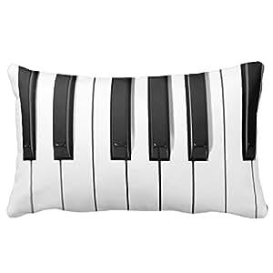 Custom URDesigner Housse de protection de clavier pour Piano Coussin lombaire cadeau personnalisé Taie d'oreiller :  20 x 30 cm