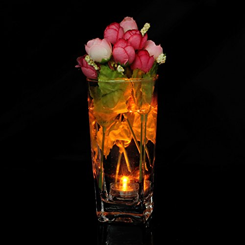 keesin 12unidades de flores impermeable LED de té luz de electrónica para vela sin llama de luz de fiesta de boda de decoración