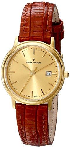 Claude Bernard Women's 54005 37J DI Classic Ladies Analog Display Rose Gold Quartz Watch