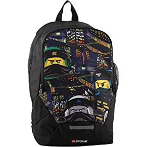 Lego Bags, Ninjago Urban, Zaino per la scuola, 350 g, 16,5 litri, 40 x 26.5 x18 cm  LEGO