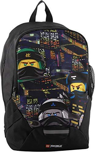 LEGO Bags Schulrucksack, Rucksack nur 350 g, Schultasche mit Lego Ninjago Motiv Urban, Schul-Rucksack ca. 40 cm, 16.5 Liter