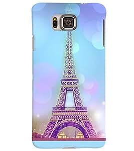 PrintVisa Travel Paris Eifel 3D Hard Polycarbonate Designer Back Case Cover for Samsung Galaxy Alpha