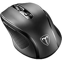 VicTsing Mini Schnurlos Maus Wireless Mouse 2.4G 2400 DPI 6 Tasten Optische Mäuse mit USB Nano Empfänger Für PC Laptop iMac Macbook Microsoft Pro