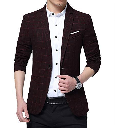 Zixing slim fit uomo casual one button elegante vestito di affari cappotto giacca blazers business large l