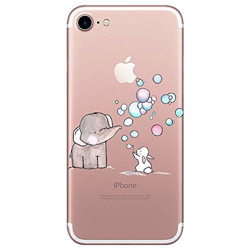 Funda iPhone 7 Suave Gel Silicona Protectora Carcasa Antideslizante Ultra Delgado Anti-Arañazos...