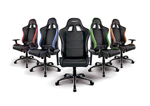 Drift dr200 silla poli ster negro y azul 9x12x16 cm - Silla gaming diablo ...
