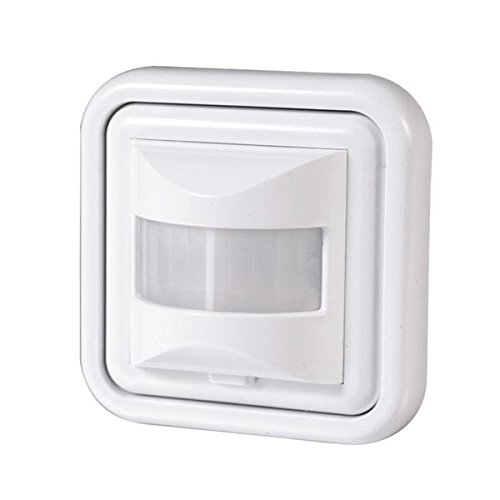 Bewegungsmelder 500 W Licht Schalter LED Wand Einbau Infrarot Unterputz Weiß