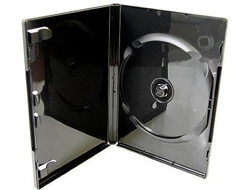 MasterStor (Pack of 10) Single DVD Case Blu-Ray Case, Black 14mm Spine