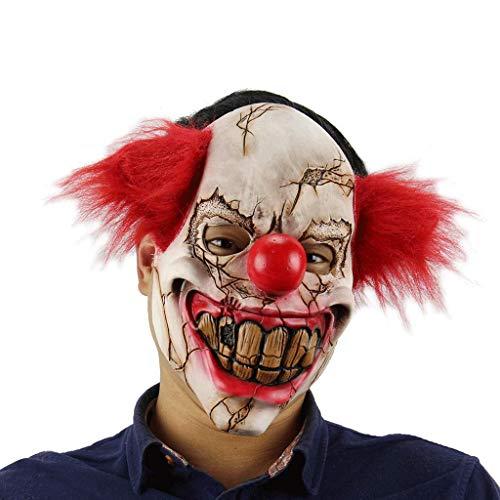 Ghost Ghoul Kostüm - Ellyeall Gänsehaut Masken Cosplay Monster Maske Halloween Kostüme Grausige Ghost Ghoul Maske Mit Perücken Auf Erschrockene Atmosphäre Für Karneval Party,A
