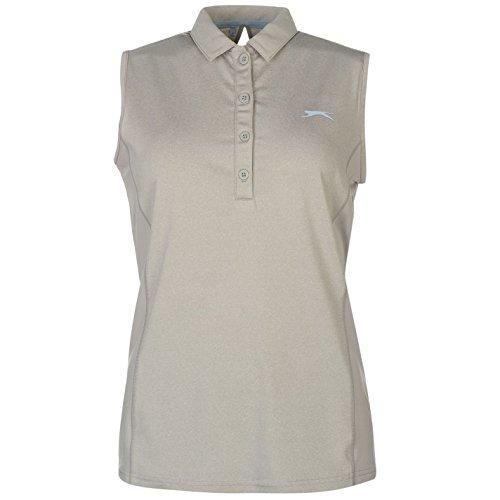 Slazenger Femmes Sans Manche Golf Polo Shirt T-Shirt Tee Top Haut Sans Manche Femme Gris S