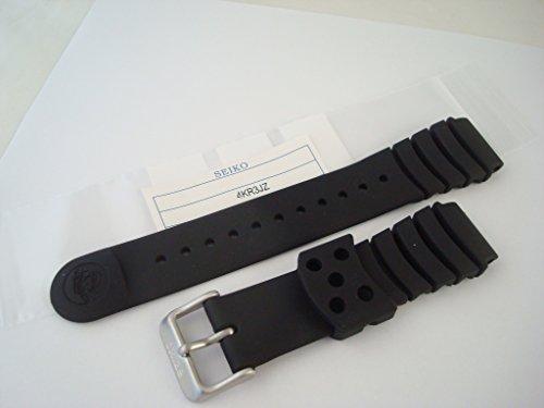 Genuine Original Seiko negro silicona goma buceadores Correa para reloj 4KR3JZ