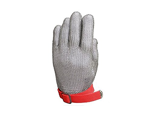 SHORT Guante de protección de acero inoxidable de malla resistente a cortes...