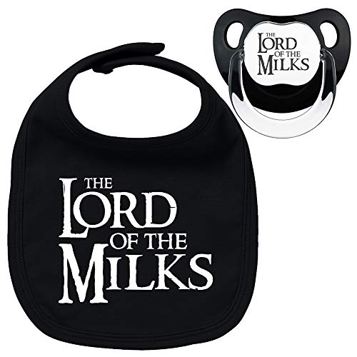 Pack chupete babero negros The lord of the milks