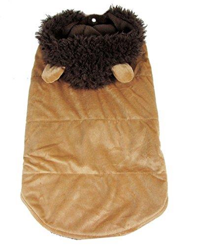 SELMAI Pet Lion Halloween-Kostüm Large Mittelgroße Hunde Fancy Kleid Hoodie Schlafanzüge Outfit Warm Weichen Fleece gefüttert Fell Jacke Liebenswürdig, Kleidung Herbst Winter