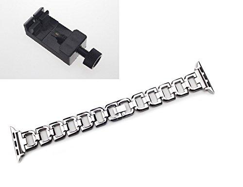 Correa de repuesto Chofit para iWatch, elegante pulsera de acero inoxidable ajustable, con herramienta de corte, para iWatch 38mm, 42mm, plata