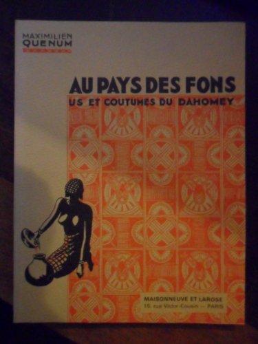 AU PAYS DES FONS par Maximilien Quénum