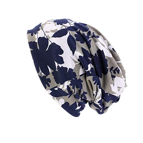 Amorar Kopftuch Hijab Bandana Damen Baumwollmütze Kopfbedeckungen Chemo Hut Weich Slouchy Beanie Turban Kopf Wraps Headwear Skull Cap für Krebs, Chemo, Haarausfall, Chemotherapie (Muslim-skull-cap)