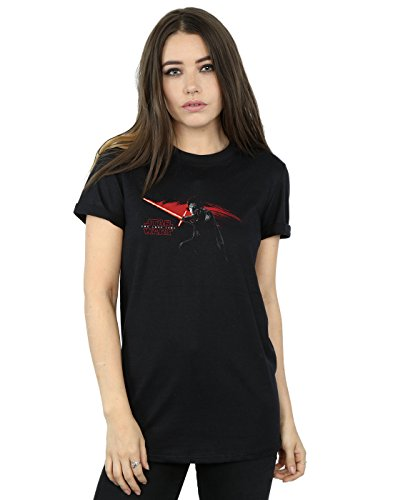 Star Wars mujer The Last Jedi Kylo Ren Hand Camiseta Del Novio Fit XXX-Large Negro