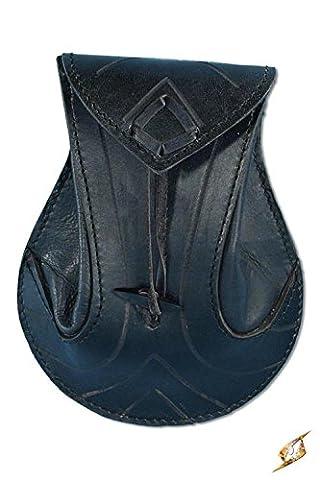 Femme Hobbit Costume - Sacoche pour ceinture en cuir tanné noir,
