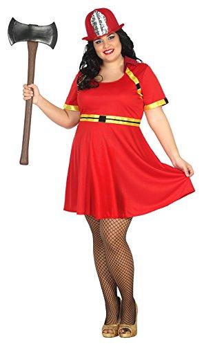 Atosa 31480–Pompiere Donna, Costume da donna, taglia XXL, 44/46
