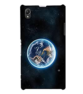 Earth 3D Hard Polycarbonate Designer Back Case Cover for Sony Xperia Z1 :: Sony Xperia Z1 L39h :: Sony Xperia Z1 C6902/L39h :: Sony Xperia Z1 C6903 :: Sony Xperia Z1 C6906 :: Sony Xperia Z1 C6943