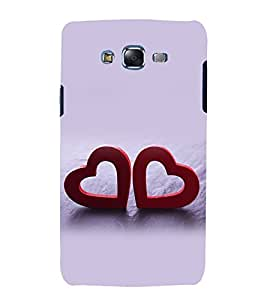printtech Love Heart Couple Back Case Cover for Samsung Galaxy Grand 2 G7102 / Samsung Galaxy Grand 2 G7106