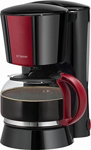 Kaffeemaschine mit Glaskanne in schwarz/rot Glaskaffeemaschine Kaffeebereiter Cafe Warmhalteplatte (ca. 1,25 Liter bzw. ca. 8-10 Tassen + Nachtropfsicherung) thumbnail