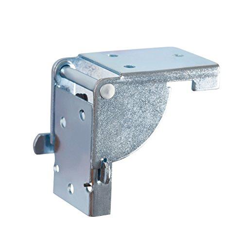 GedoTec Bisagra de solapa Consola plegable tapa tabla para Patas mesa y Bancos Galvanizado con acero pies la 38 x 38 mm Calidad marca su Sala estar, 2 piezas - 1 par