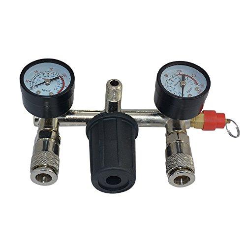 LINGJUN Wasserabscheider Druckluft Druckminderer Manometer Druckregler Kompressor