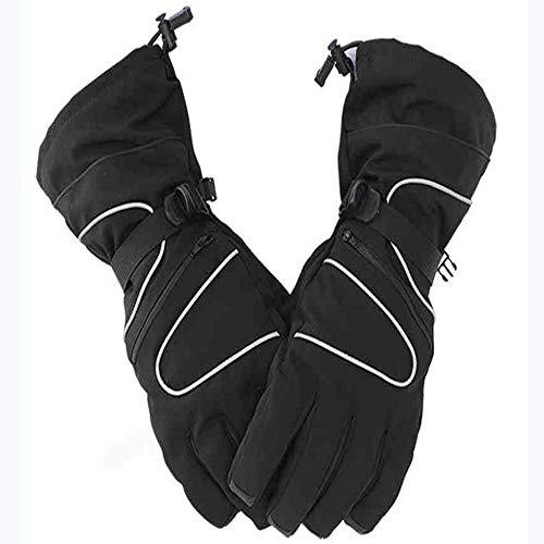 Laxus Guanti da Sci Impermeabili Antivento Warm Snowboard Ciclismo motoslitta da Equitazione Guanti Termici Invernali Tasca con Cerniera per Uomo e Donna (L-Black)